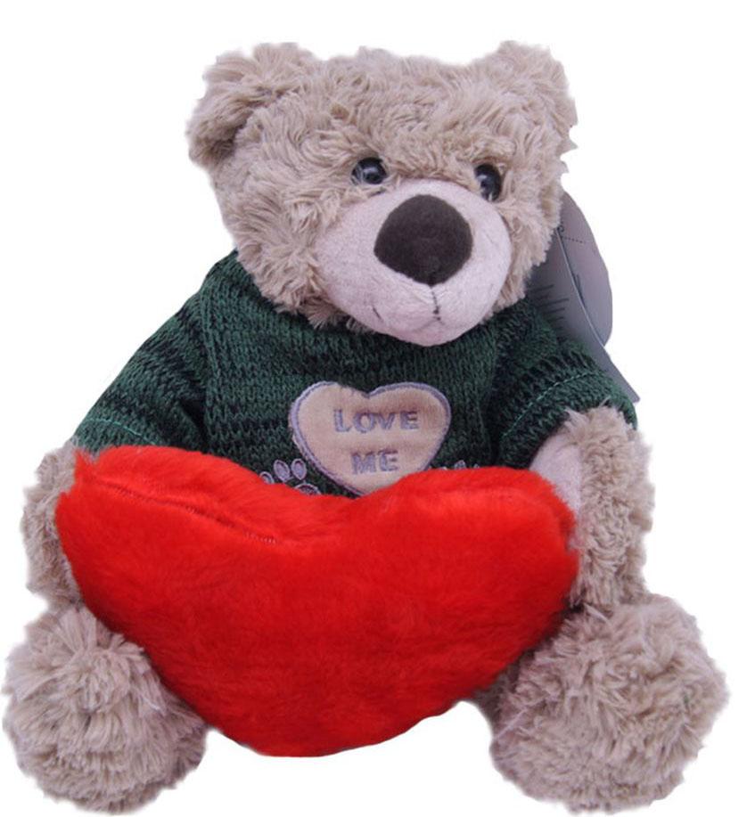 Magic Bear Toys Мягкая игрушка Мишка Тед в свитере c сердцем 20 см maxitoys мягкая игрушка мишка тед 65 см