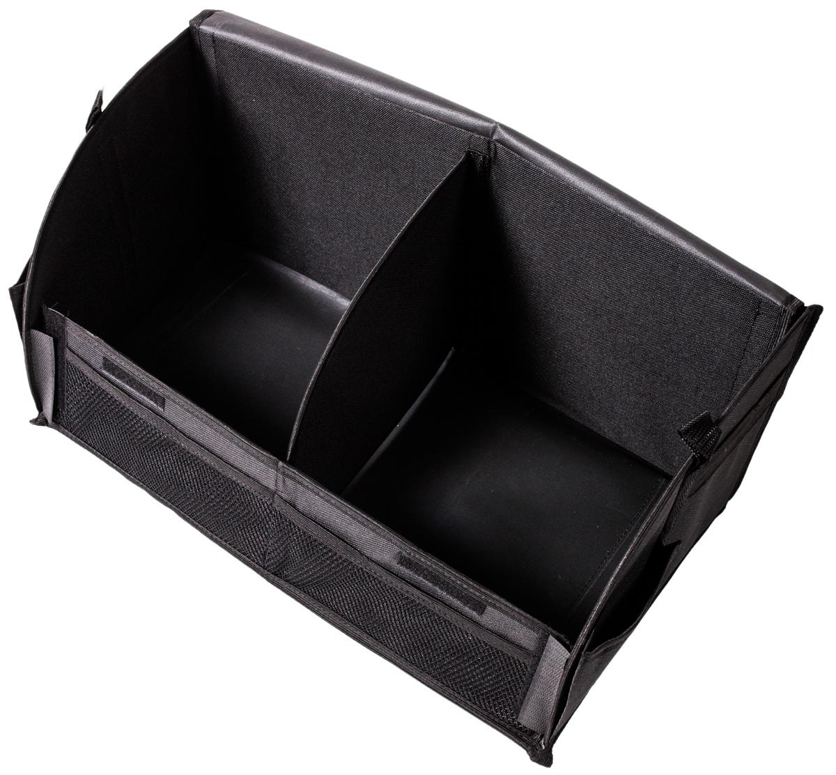 Органайзер AvtoTink, в багажник, складной, цвет: черный, 48 х 26 х 24 см органайзер с крышкой в багажник isky полиэстер цвет черный 51 x 31 х 31 см