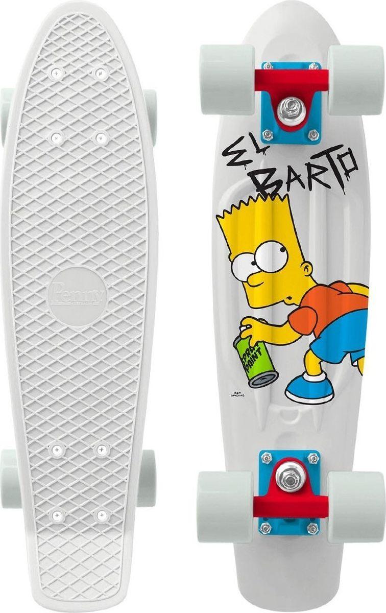"""Пенни борд Penny """"Simpsons"""", цвет: белый, дека 22"""""""