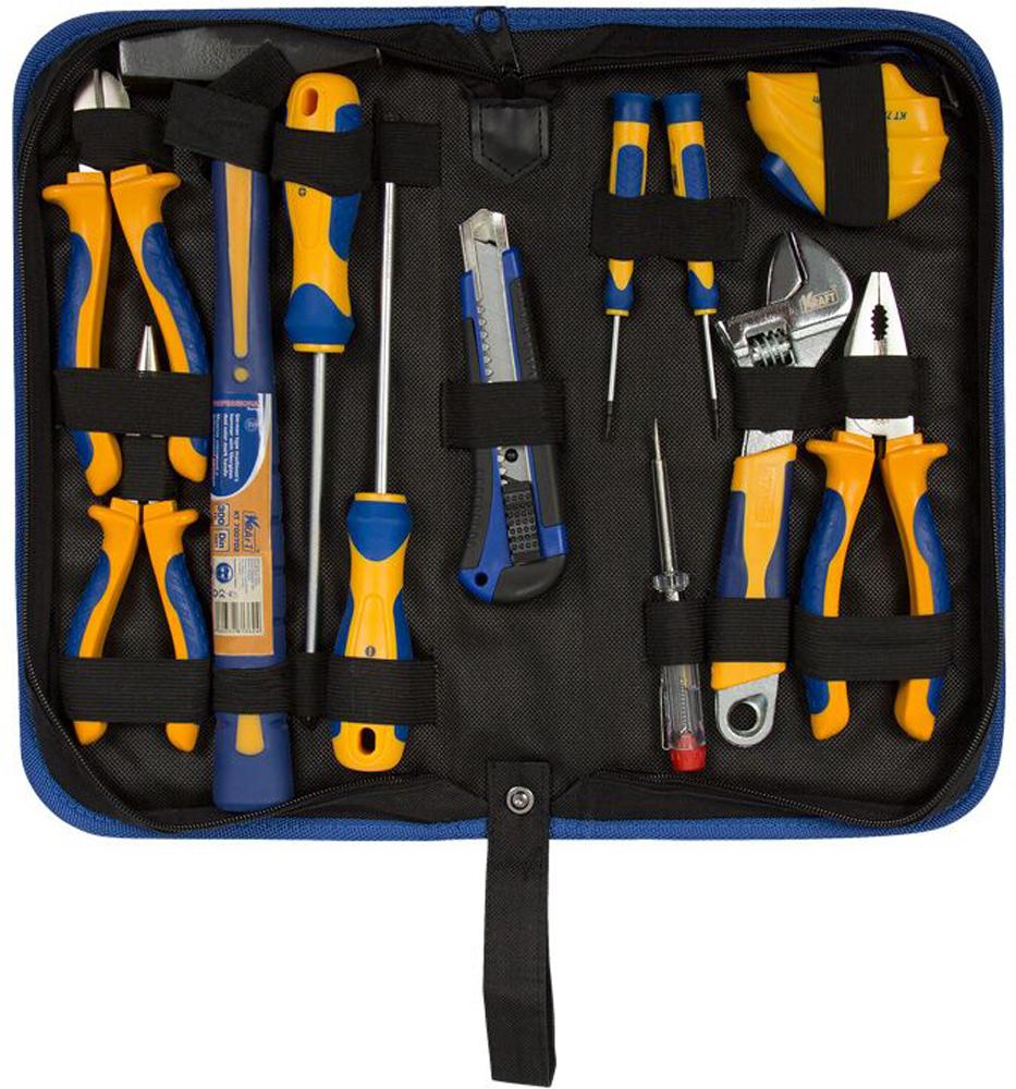 Набор инструментов Kraft Professional, с сумкой, 12 предметов набор инструментов kraft professional с сумкой 9 предметов