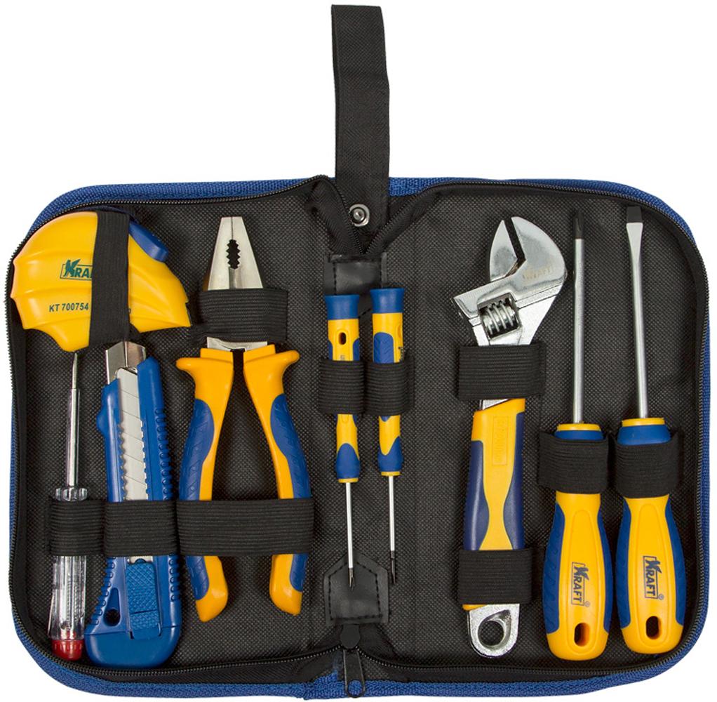 Набор инструментов Kraft Professional, с сумкой, 9 предметов набор инструментов kraft professional с сумкой 9 предметов