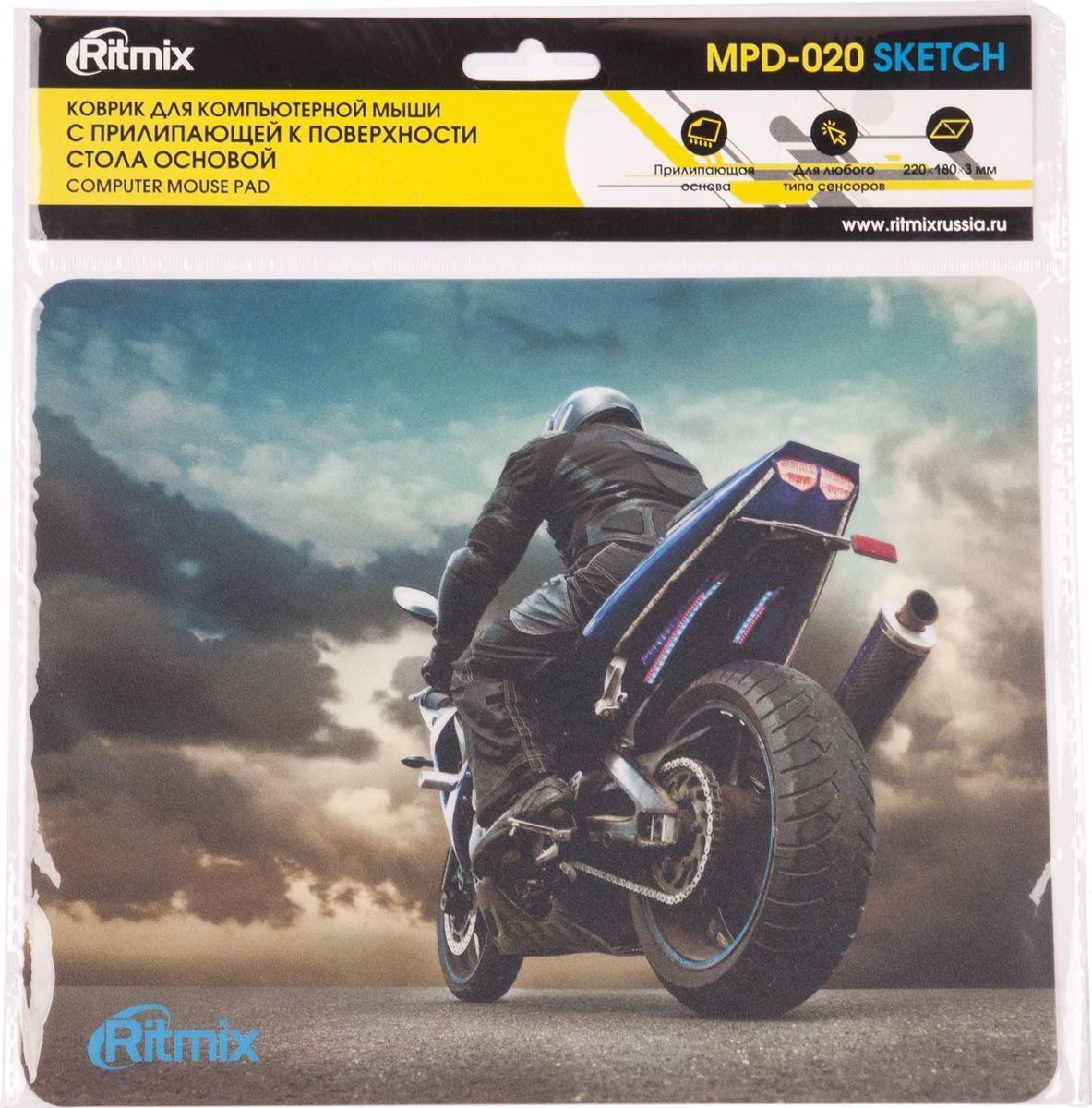 Коврик для мыши Ritmix MPD-020 Sketch коврик для мыши ritmix mpd 030 action