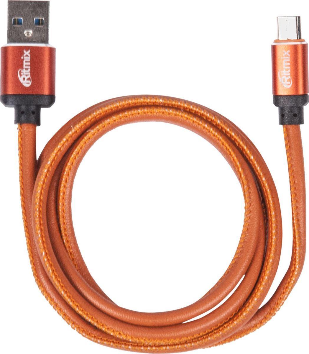 Ritmix RCC-415, Leather кабель USB - microUSB (1 м)