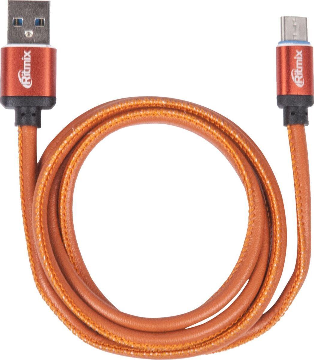 Ritmix RCC-435, Leather кабель USB - Type C (1 м)