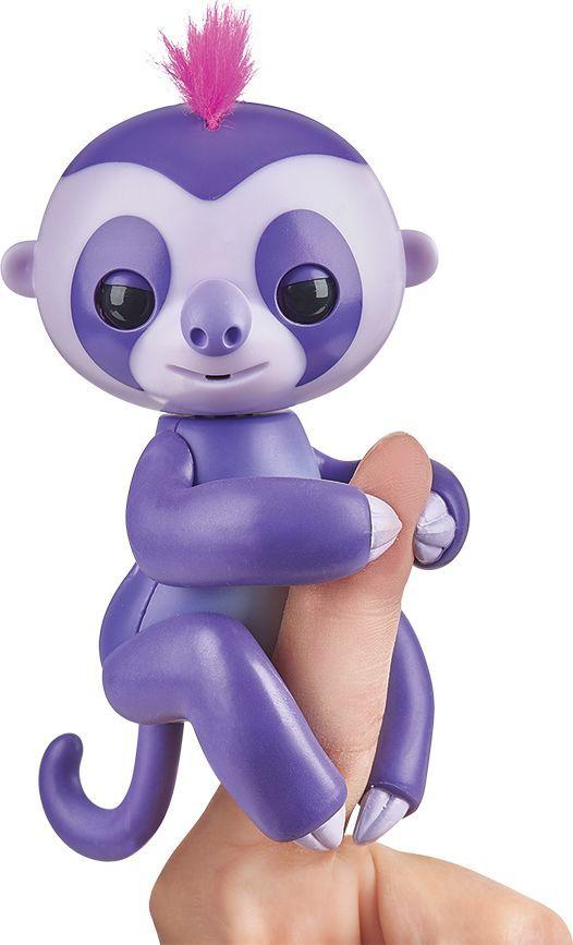 Fingerlings Интерактивная игрушка Ленивец Мардж цвет пурпурный 12 см