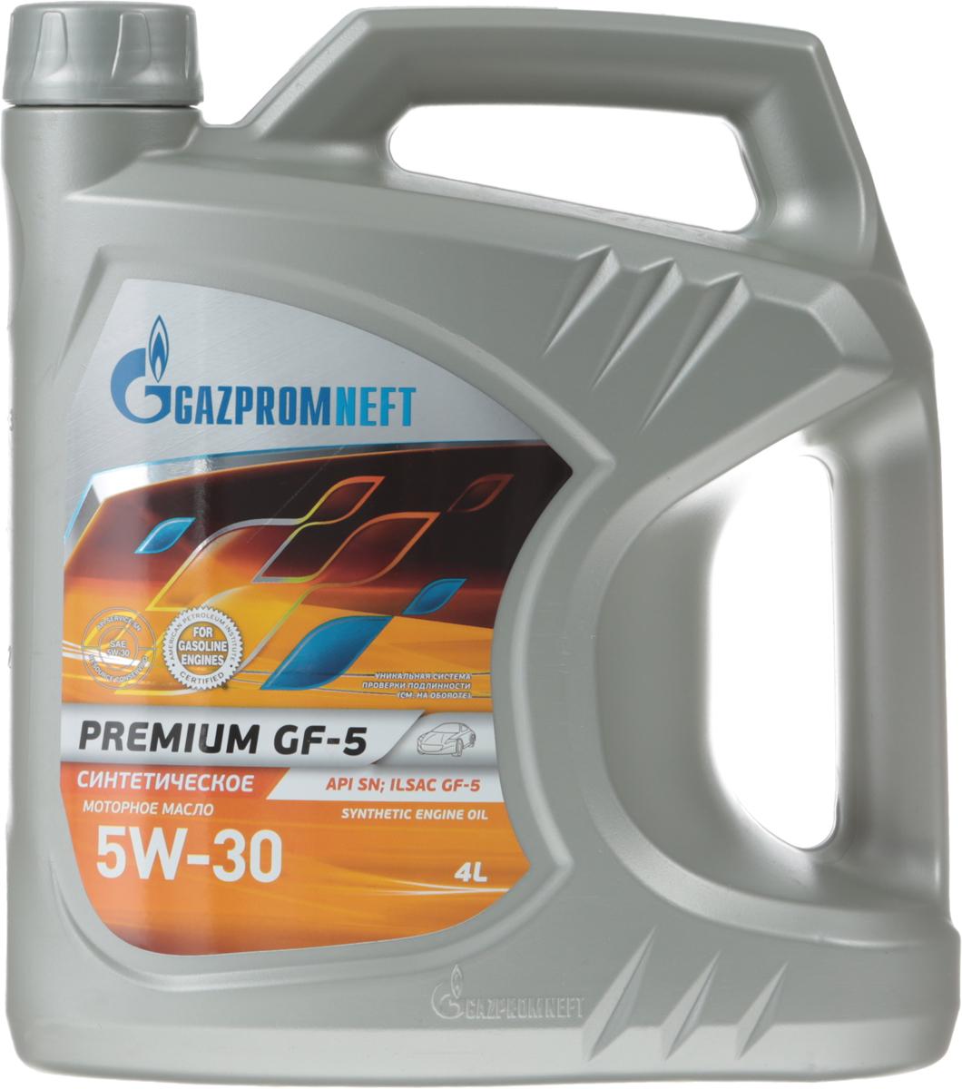 Масло моторное Gazpromneft Premium GF-5 5W-30 API SN, ILSAC GF-5, синтетическое, 4 л