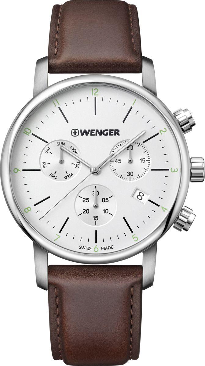 лучшая цена Часы наручные мужские Wenger Urban Classic, цвет: коричневый. 01.1743.101