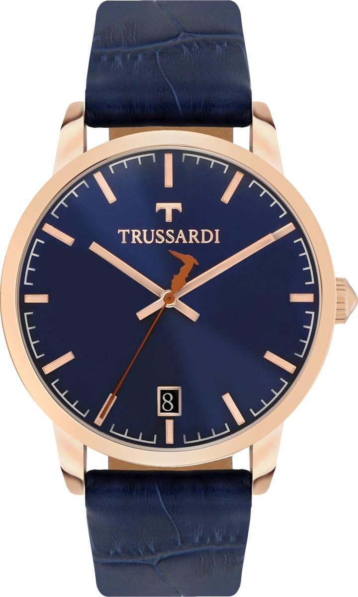 Часы наручные мужские Trussardi My Time, цвет: синий. R2451113001 часы trussardi trussardi tr002dweftd4