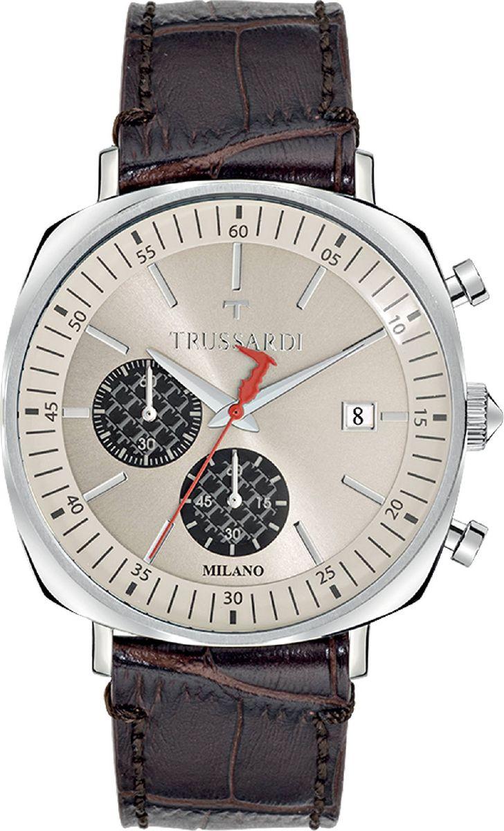 Часы наручные мужские Trussardi T-King, цвет: коричневый. R2471621002 часы trussardi trussardi tr002dweftd4