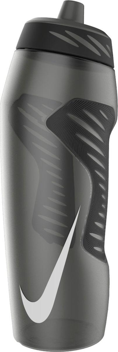 Бутылка для воды Nike Hyperfuel, цвет: серый, черный, белый, 946 мл бутылка для воды contigo цвет серый 650 мл contigo0647