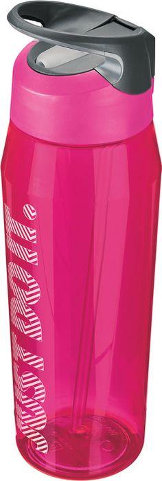 Бутылка для воды Nike TR Hypercharge Straw, цвет: розовый, серый, белый, 946 мл бутылка для воды contigo цвет серый 650 мл contigo0647