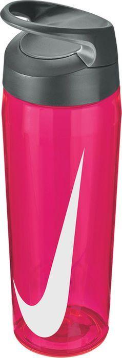Бутылка для воды Nike TR Hypercharge Twist, цвет: розовый, серый, белый, 709 мл бутылка для воды contigo цвет серый 650 мл contigo0647