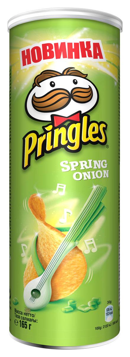 Фото - Pringles Картофельные чипсы со вкусом зеленого лука, 165 г pringles картофельные чипсы со вкусом краба 70 г