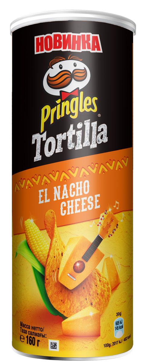 Pringles Tortilla Кукурузные чипсы со вкусом сыра начо, 160 г santa maria чипсы кукурузные с чили 185 г