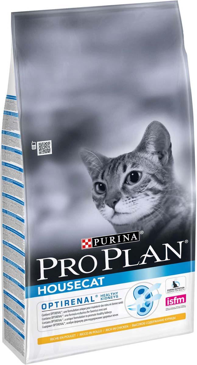 """Корм сухой Pro Plan """"House Cat"""" для взрослых кошек, с курицей, 10 кг"""