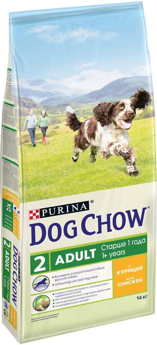 """Корм сухой """"Dog Chow"""" для взрослых собак, с курицей, 14 кг"""