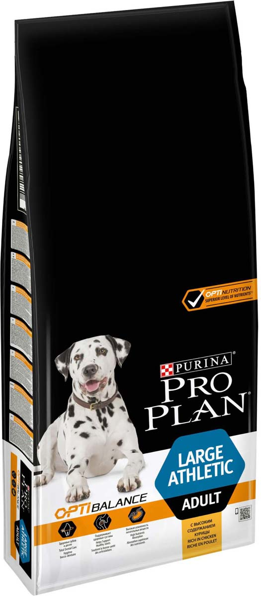 Корм сухой Pro Plan Adult Large Athletic, для собак крупных пород с атлетическим телосложением, с курицей, 14 кг корм сухой pro plan adult large athletic для собак крупных пород с атлетическим телосложением с курицей 14 кг