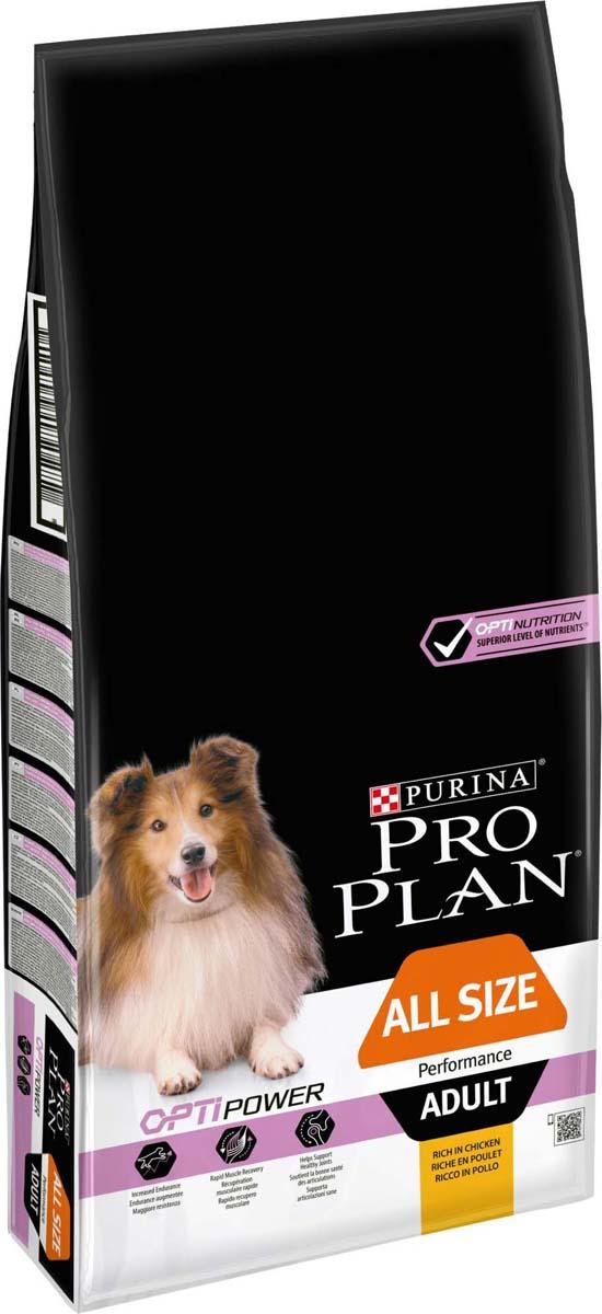 """Корм сухой Pro Plan """"Performance"""", для активных собак, с курицей и рисом, 14 кг"""