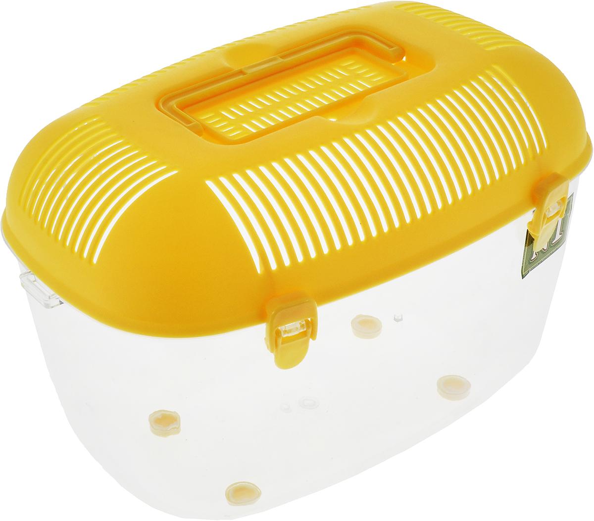 Фото - Переноска для грызунов №1, цвет: желтый, 35 х 22 х 24 см переноска для животных lion manufactory lm6406 2 серый желтый 40 х 27 х 26 см