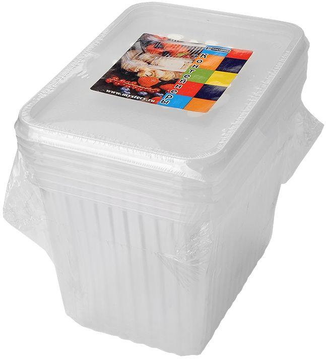 Набор одноразовых контейнеров Мистерия, прямоугольные, 2 л, 5 шт набор одноразовых ложек мистерия 12 шт