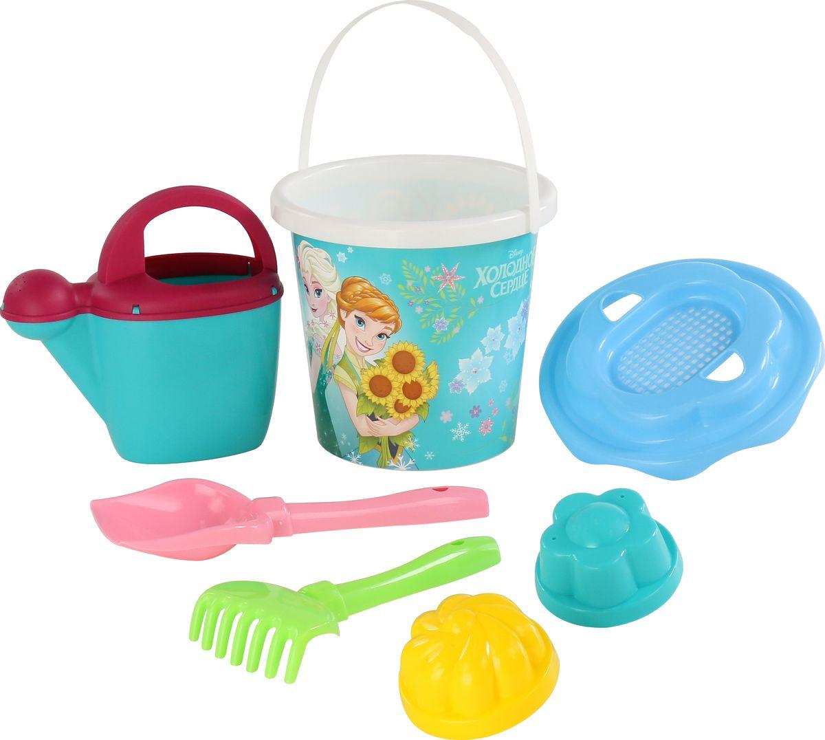 Disney Набор игрушек для песочницы Холодное сердце №12 7 предметов, цвет в ассортименте polesie набор игрушек для песочницы полесье холодное сердце 14 7 предметов