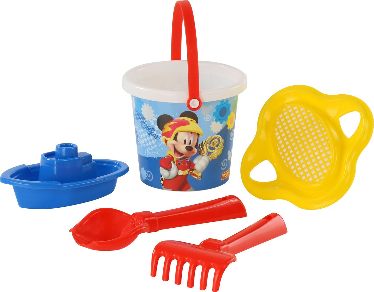 Disney Набор игрушек для песочницы Микки и Веселые гонки №3, цвет в ассортименте