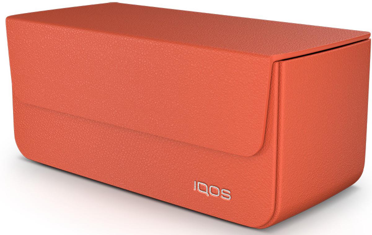 IQOS Кожаный чехол для электронной сигареты, цвет: оранжевый