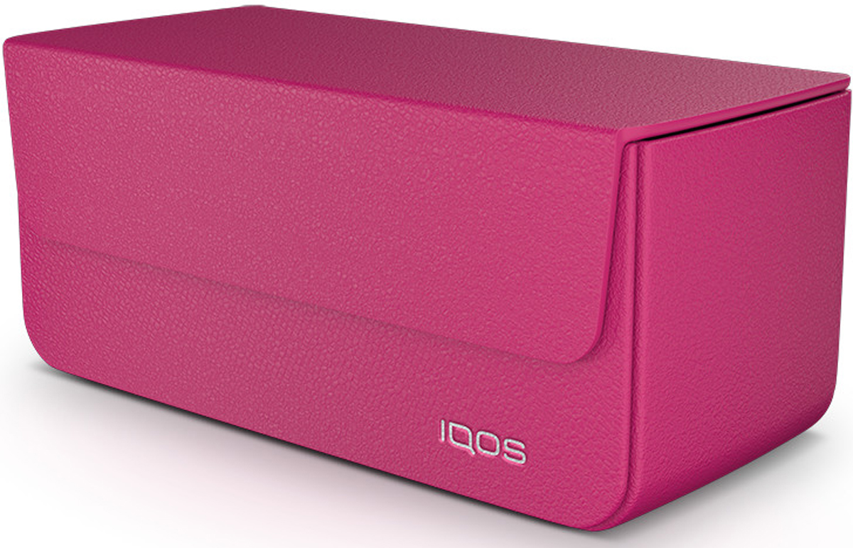 IQOSКожаный чехол для электронной сигареты, цвет:  розовый IQOS