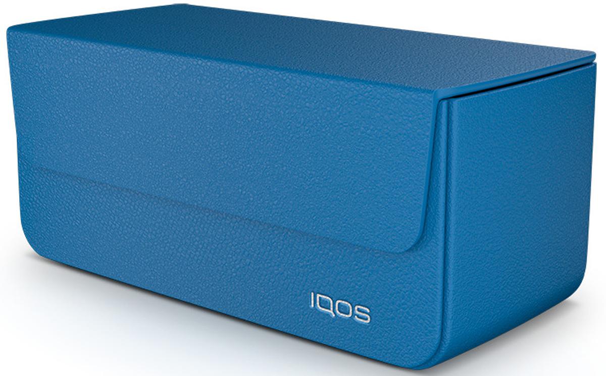 IQOS Кожаный чехол для электронной сигареты, цвет: синий