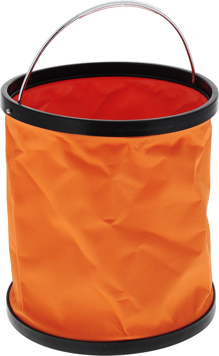 Ведро складное CityUp, цвет: оранжевый, 11 л. АR1207 ведро складное acecamp transparent folding bucket