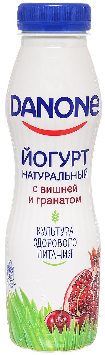Danone Йогурт питьевой Вишня гранат 2,1%, 270 г