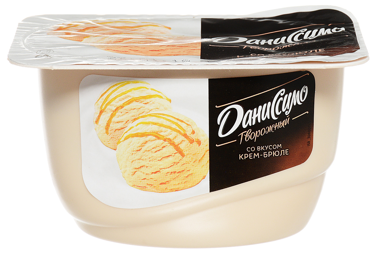 Даниссимо Продукт творожный мороженое Крем-брюле 5,5%, 130 г молочный коктейль даниссимо со вкусом мороженого крем брюле 2 5% 215 г