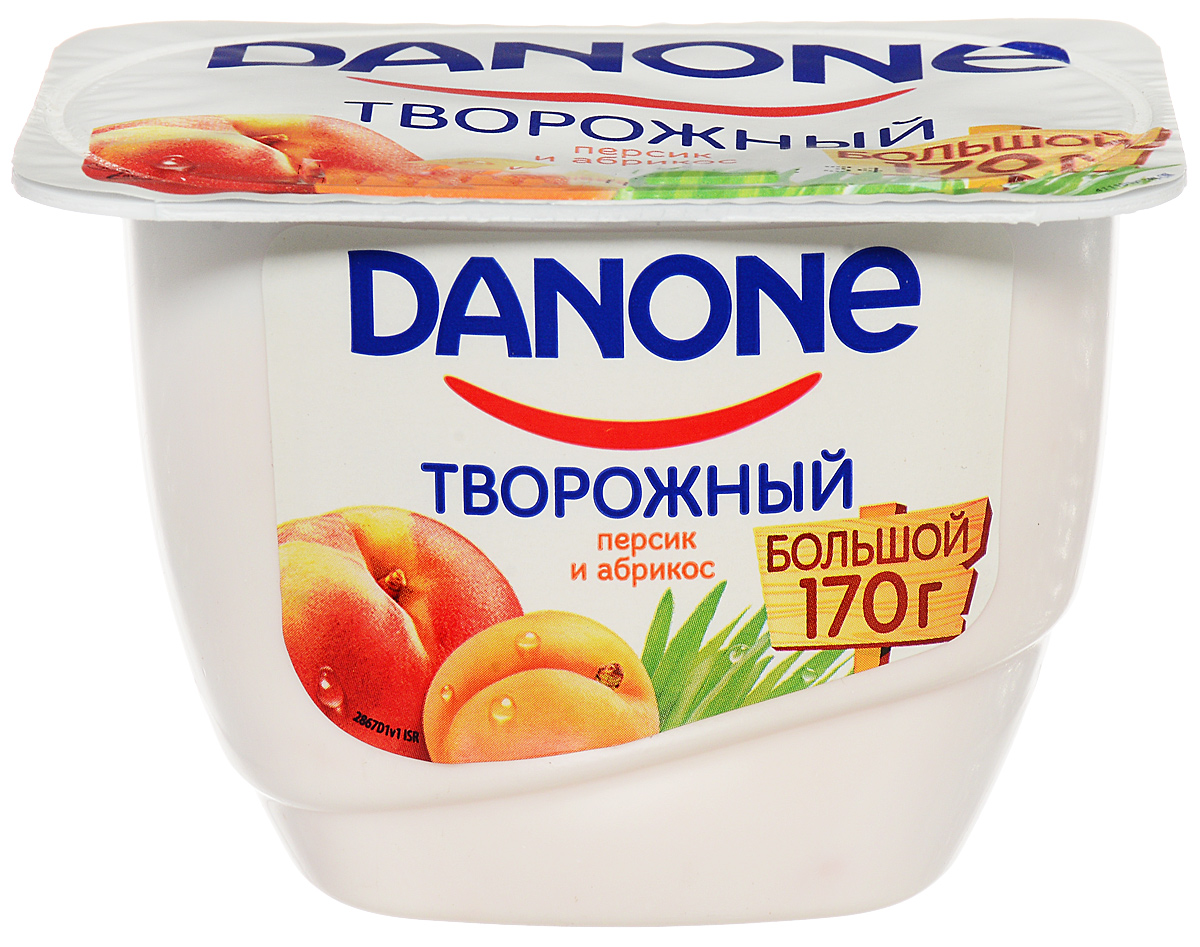 Danone Продукт творожный Персик абрикос 3,6%, 170 г danone продукт творожный персик абрикос 3 6% 170 г