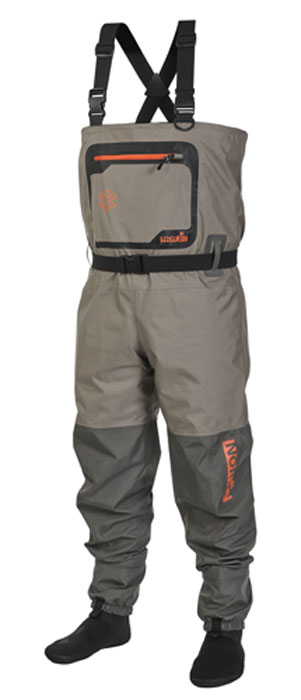 Полукомбинезон рыбацкий мужской Norfin, цвет: серый. 91255. Размер M-L