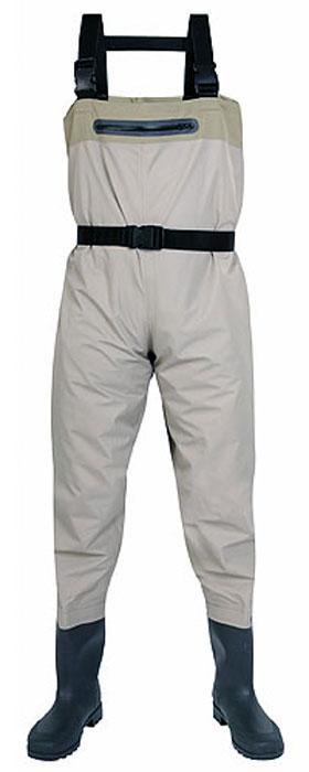 Полукомбинезон рыбацкий мужской Norfin, цвет: серый. 81244. Размер 40