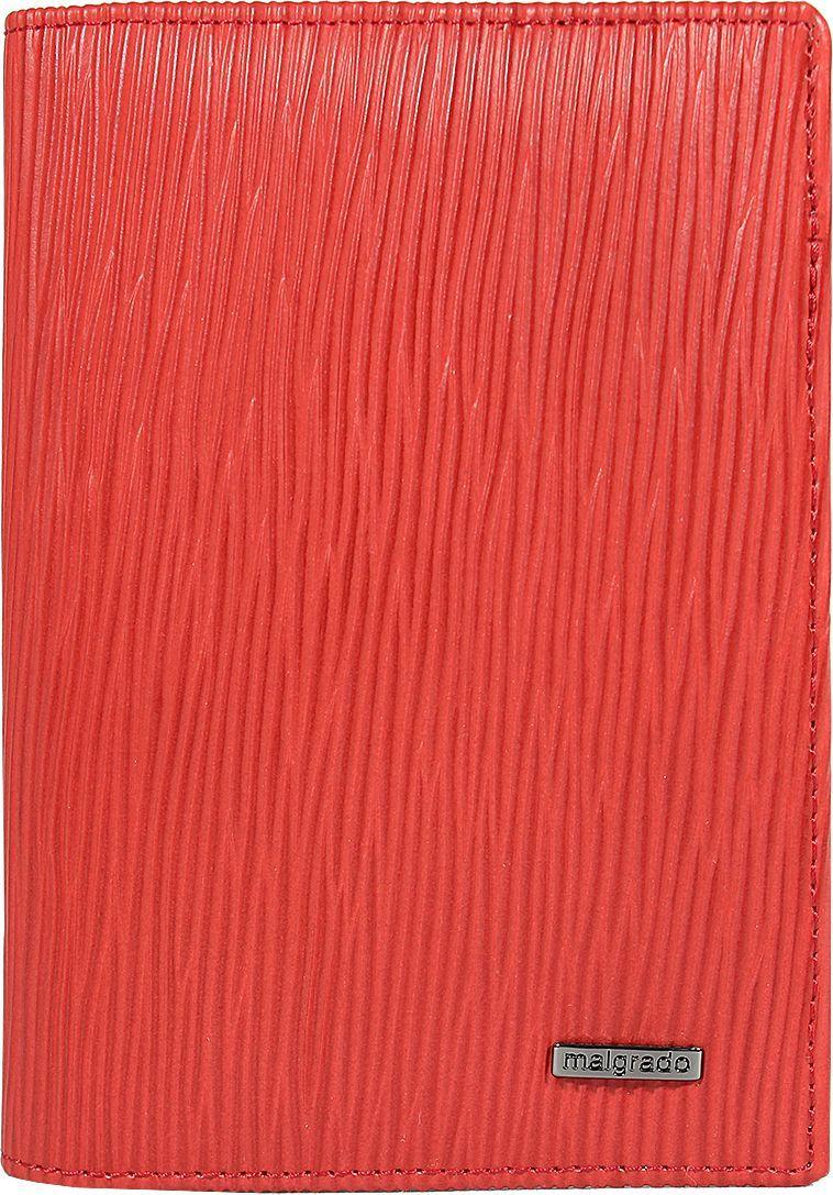 Обложка для документов женская Malgrado, цвет: красный. 54019-53009 обложка для паспорта malgrado цвет красный 54019 1 44