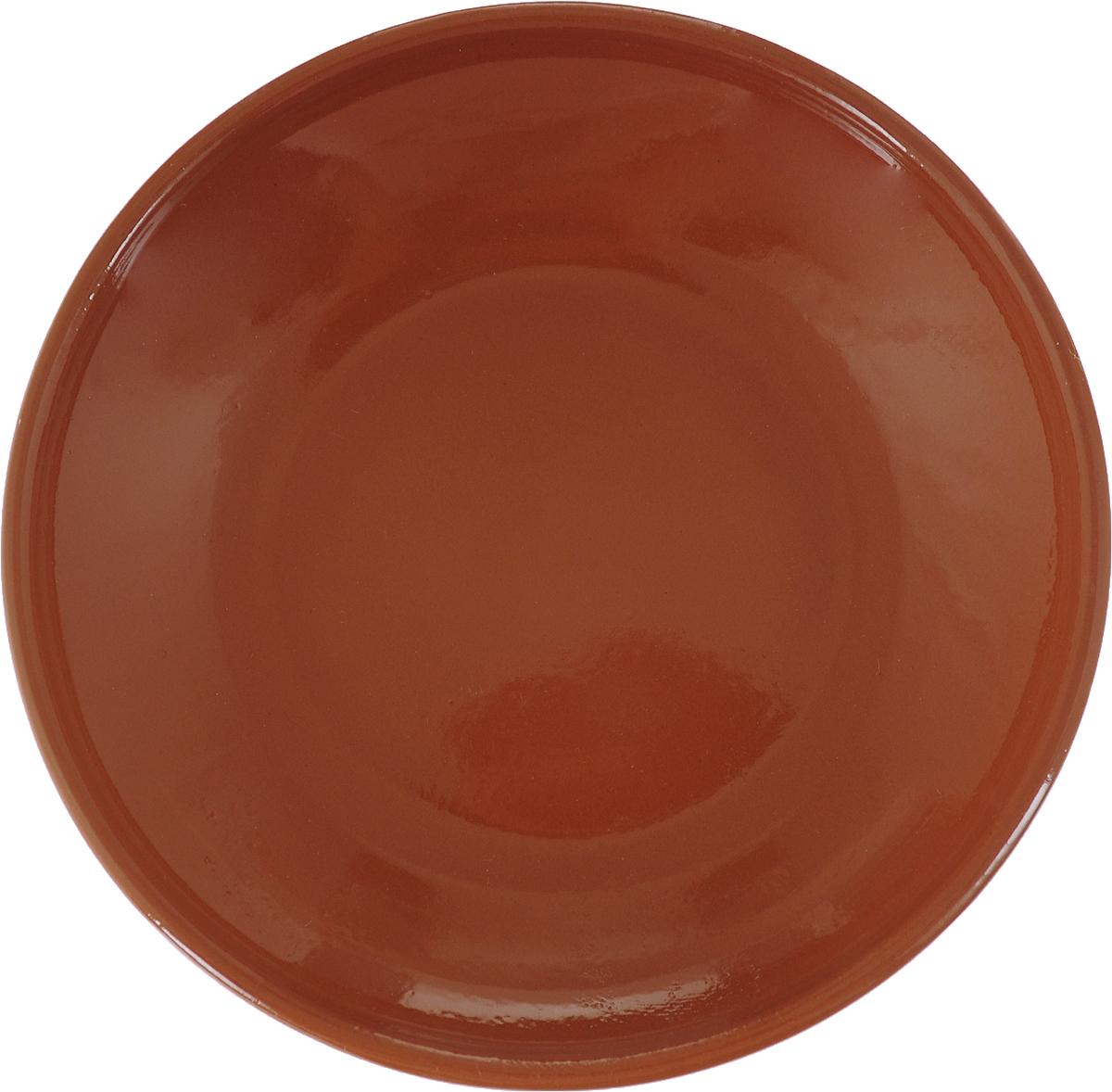 Фото - Блюдце Борисовская керамика Радуга, цвет: терракотовый, диаметр 10 см блюдце борисовская керамика радуга цвет темно серый диаметр 10 см