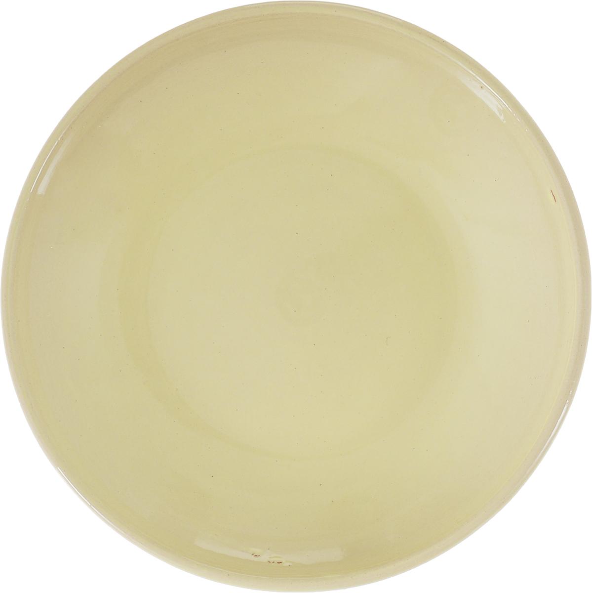 Фото - Блюдце Борисовская керамика Радуга, цвет: песочно-желтый, диаметр 10 см блюдце борисовская керамика радуга цвет темно серый диаметр 10 см