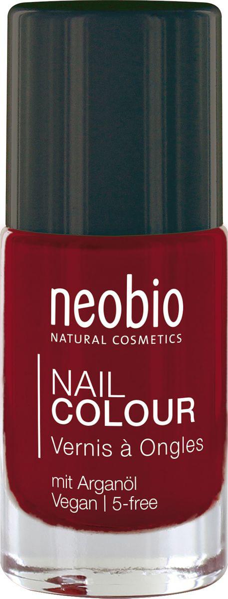 Neobio Лак для ногтей 5-Free с аргановым маслом, №06 Насыщенный красный, 8 мл