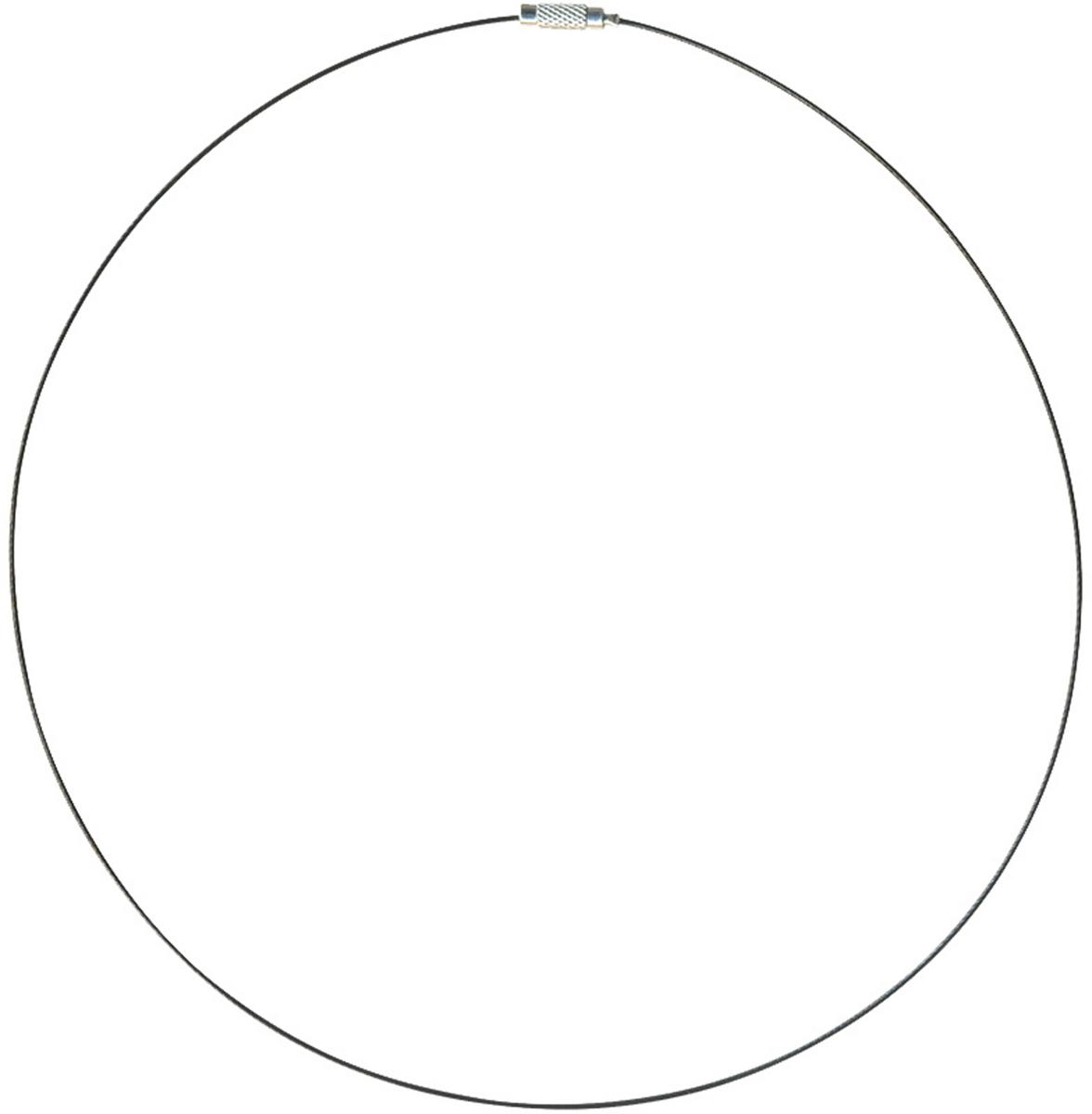 """Проволока-заготовка для ожерелья """"Астра"""", цвет: черный, 50 см"""