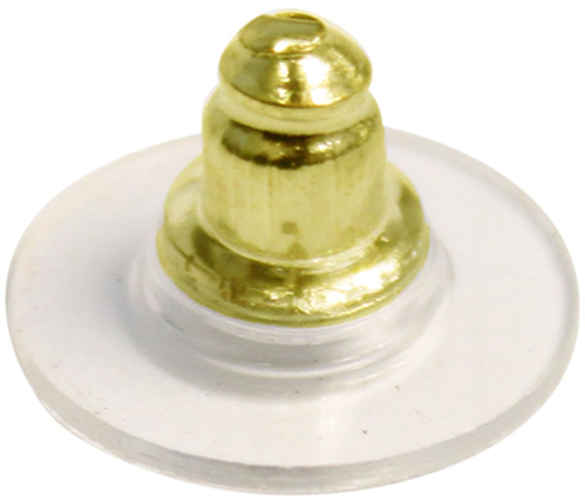 "Фиксатор для серег ""Астра"", цвет: золотистый, 7 х 12 мм, 6 шт. 7709561_FPES001-A"