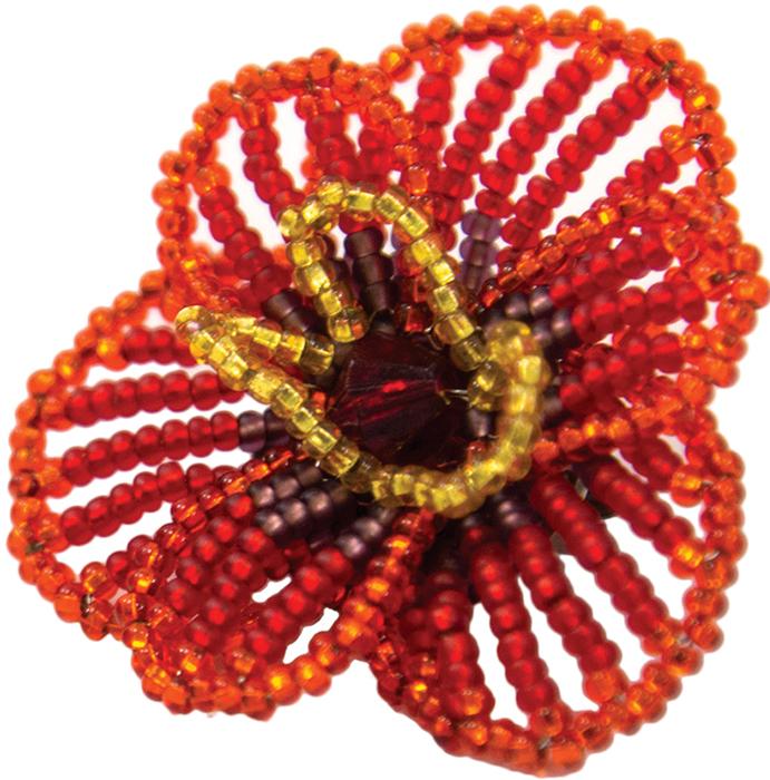 Набор для бисероплетения Hobby & Pro Pearl Брошь. Цветочек аленький. 498861 набор для бисероплетения hobby