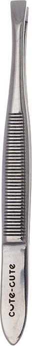 Cute-Cute Пинцет прямой, цвет: серебристый пинцеты dovo пинцет наклонный узкий