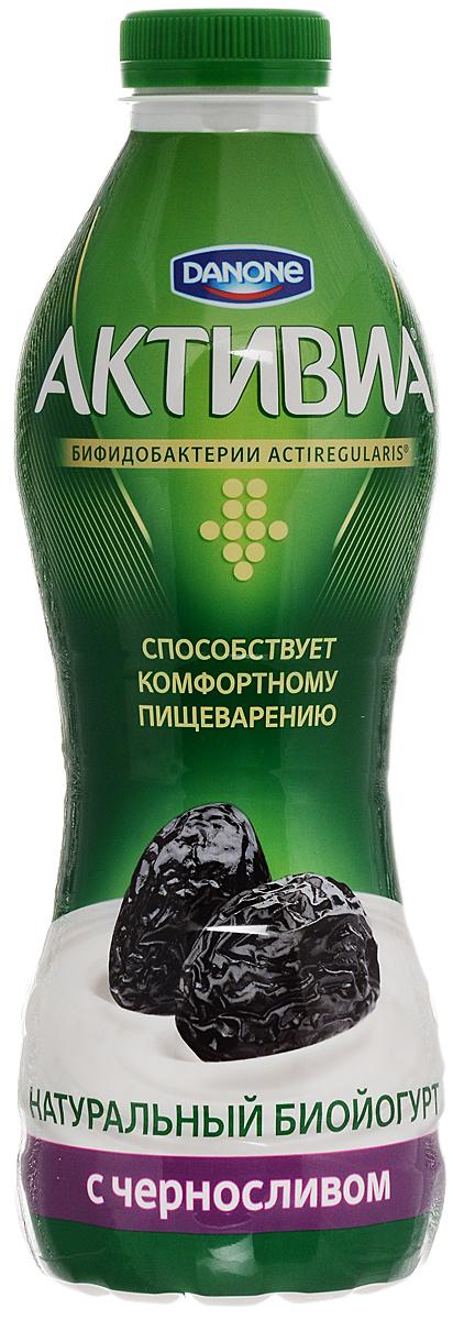 Активиа Биойогурт питьевой Чернослив 2%, 870 г активиа биойогурт густой чернослив 2 9% 150 г