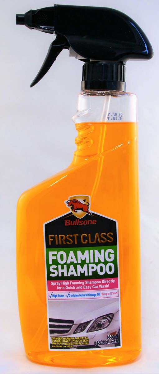 "Шампунь для автомобиля Bullsone ""Foaming Shampoo"", спрей, 550 мл"
