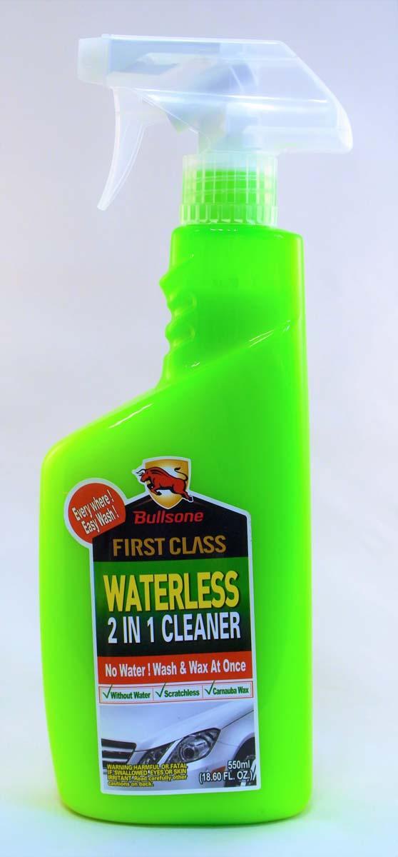 """Полироль автомобильный Bullsone """"Waterless 2 in 1 Cleaner"""", безводный, с воском Carnauba, 550 мл"""