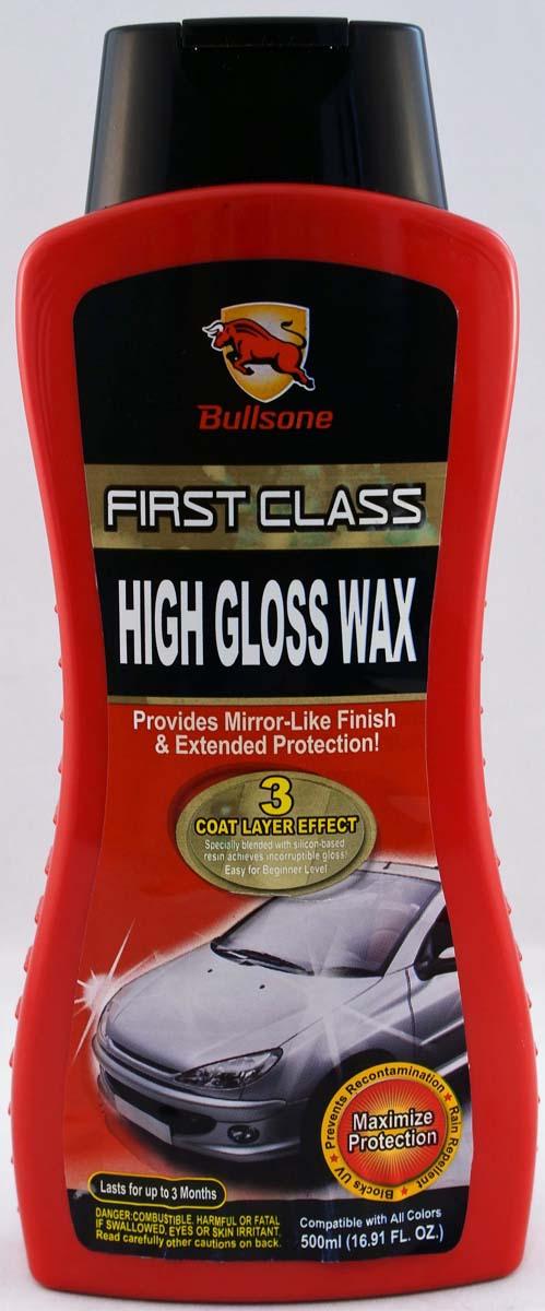 """Полироль защитный Bullsone """"High Gloss Wax"""", с эффектом жидкого стекла, 3-слойное покрытие, 500 мл"""