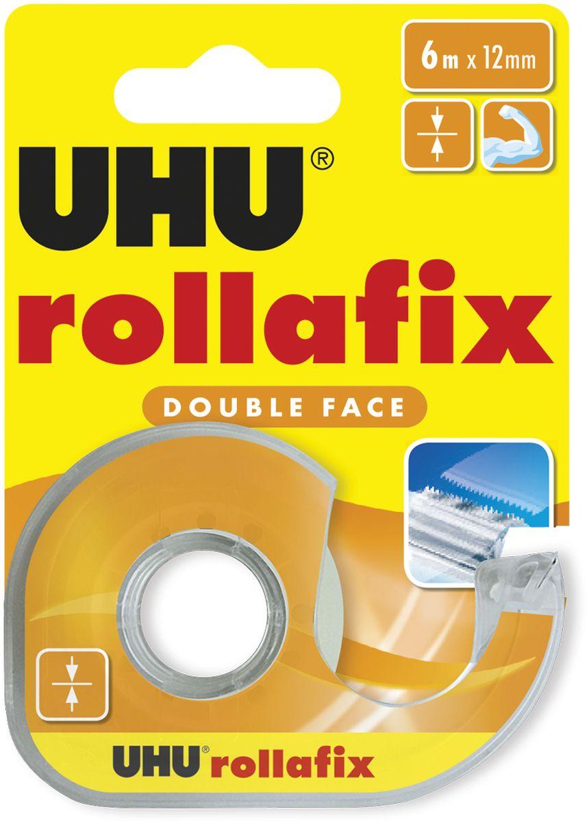 UHU Клеящая лента Rollafix двухсторонняя 12 мм х 6 м лента клеящая двухсторонняя на вспененной основе 19 мм х 5 м