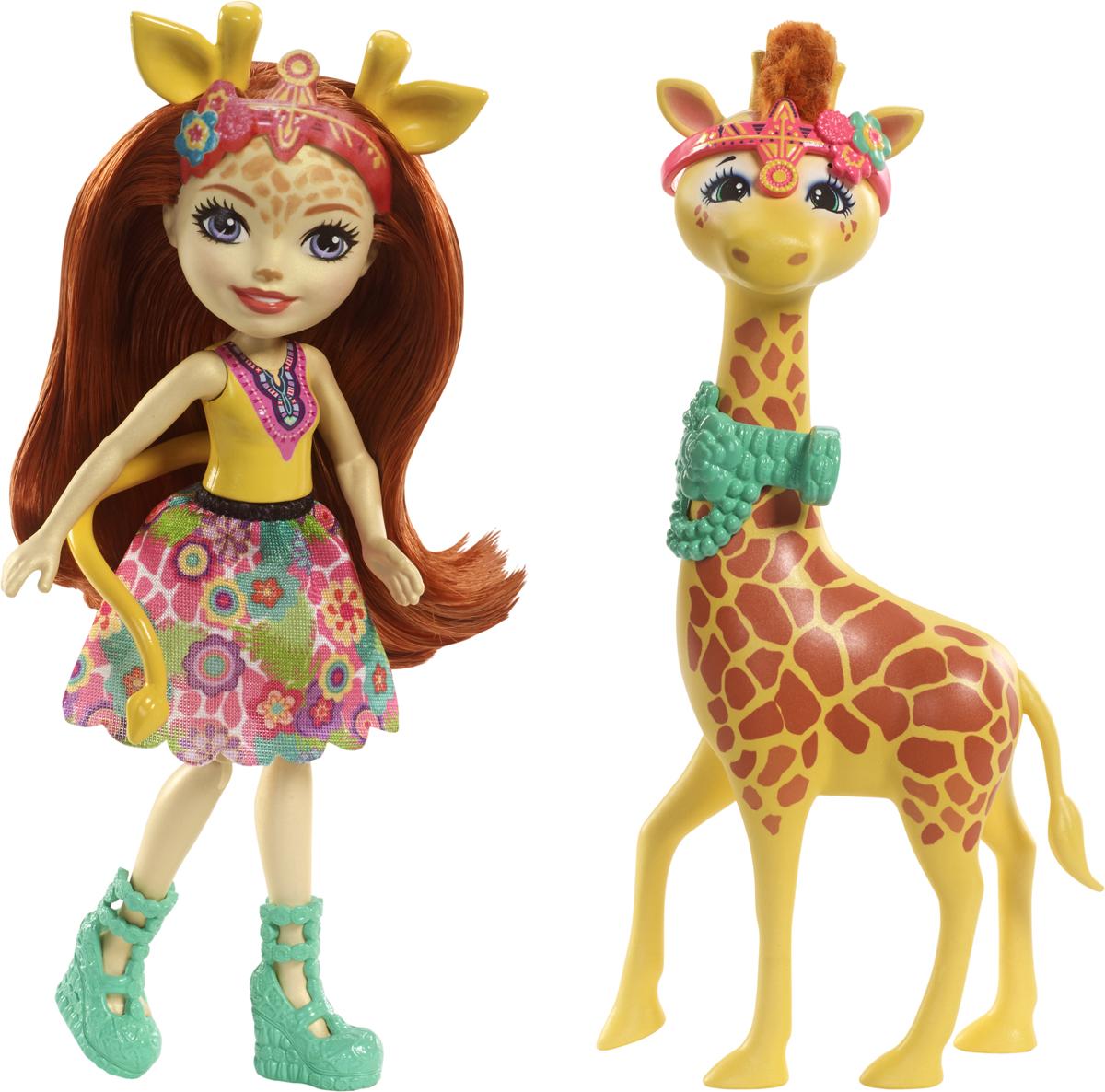 Enchantimals Игровой набор с куклой Gillian Giraffe & Pawl enchantimals игровой набор с куклой sage scunk
