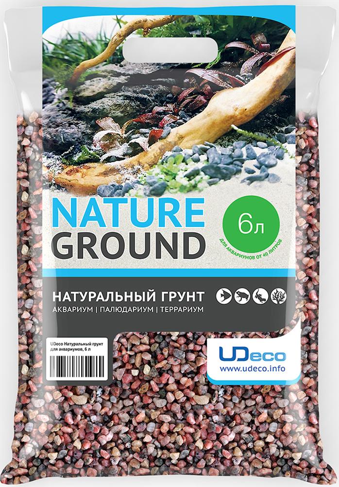 """Грунт для аквариума UDeco """"Розовый гравий"""", натуральный, 6-8 мм, 6 л"""